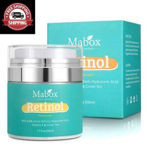 NEW Mabox Retinol Moisturizer Face Cream VitaminE Collagen Retin Anti Aging 2021