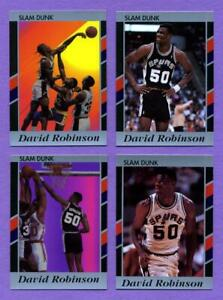 Lot of 25 David Robinson 1990/91 Slam Dunk Cards Best of the Best Promo Set of 4