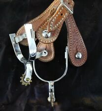 SPURS Horse Tooled Leather & Metal