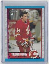 1989-90 THEO FLEURY O-PEE-CHEE ROOKIE CARD #232