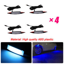 Car Fender Flares Arch Wheel Eyebrow Protector Blue LED Ambient Light Decoration