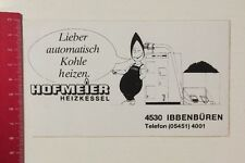 Aufkleber/Sticker: Hofmeister Heizkessel Ibbenbüren - Kohle Heizen (200416136)
