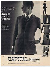 PUBLICITE ADVERTISING 104 1966 CAPITAL vêtement pour homme
