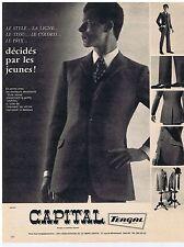 PUBLICITE ADVERTISING 104 1966 CAPITAL vêtement pour homme