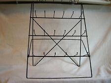 24  Single Peg Easel  Counter Display Rack for Small Items Black NIB