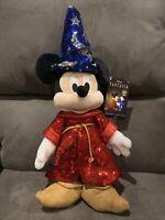Disney Sorcerer Mickey Mouse Sequin Plush – Fantasia 80th Anniv.– Small 15''