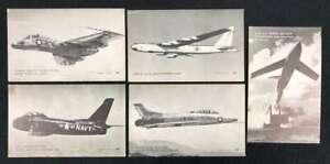 D1467 : (10) 1940's -50's Militaire Planes Exhibit Cartes