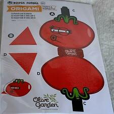 20 Origami Paper Model Kits from Olive Garden Tonya Tomato Kids Crafts