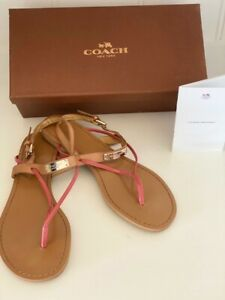 BRAND NEW COACH Concord Sandals Ginger/Loganberry Size 10. RRP $395.00