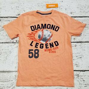 "GYMBOREE Boys ""Everyday All Star"" Orange Baseball Short Sleeve Tee 8 NEW NWT"