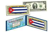 CUBA - FLAG SERIES $2 Two-Dollar U.S. Bill - Genuine Legal Tender Bank Note