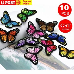 10pcs Colourful Butterfly Applique  Lace Trims Sewing Embroidery Craft Patch Sew