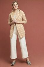 Anthropologie Field Flower Dotti Sweater Coat Size XS Polka Dot Cardigan