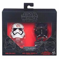 Hasbro Star Wars Black Series Titanium E7 FINN FN2187 AND FO T Diecast Helmets