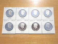 2010 11 2012 S 13 14 2015 2016 S 2017 2018 S Clad Proof Kennedy Half 9 Coin Set