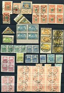 Estland Briefmarken Lot Gestempelt mit verschiedenen Postorten