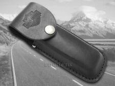 Case XX Harley Davidson Large Black Leather Belt Sheath for Pocket Knives 52098