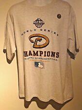 Vintage 2001 World Series Arizona Diamondbacks Champions T Shirt X L slight used