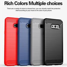 For LG V50S V50 V40 G8X G8S ThinQ Slim Hybrid Carbon Fiber Matte TPU Case Cover