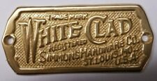 Lacquered Brass - Cast White Clad Ice Box Name Plate nameplate refrigerator S...