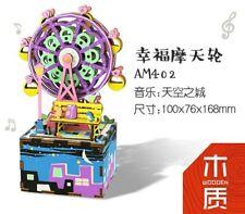 DIY Musikbox Riesenrad, Spieluhr mit Bewegung, 3D-Puzzle,