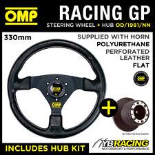 OMP RACING GP 330mm STEERING WHEEL & HUB for RENAULT CLIO MK2 ALL 98-06