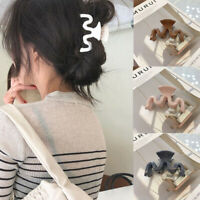 Women's Spring Clip Grips Acrylic Barrette Wavy Hair Clips Accessories Ponytail