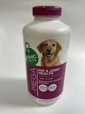 New listing Gnc Pets Ultra Mega Hip & Joint Health Chewable Tab Dog 300 Count-Beef flavor