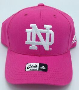 NCAA Notre Dame Fighting Irish Adidas Girls Adjustable Cap Hat Beanie NEW