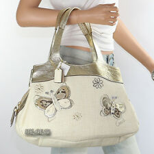 NWT Coach Lexi Straw Butterfly Shoulder Hand Bag Satchel F16584 New RARE