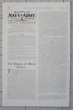 1901 PRINT 14th SEPT NAVY & ARMY EDITORIAL NEWS SNIPPETS BRITISH EMPIRE