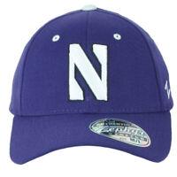 NCAA Zephyr Northwestern Wildcats Flex Fit Stretch Medium Large M/L Hat Cap