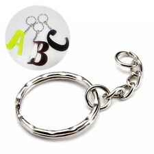 Lots 15X DIY Silver Keyring Keychain Split Ring Short Chain Key Holder Accessory