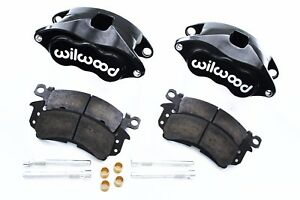 """Wilwood Black D52 Brake Calipers & Pad Set 68-96 GM 1.040"""" Front Rotors"""