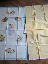 Exclusively Quilters 1930's OFF TO DREAMLAND Baby Quilt Fabric Panel KIT