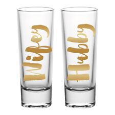 Wifey/Hubby 2-Piece Wedding Shot Glass Set