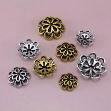 Findings  Flower Bead charms  Flower Bead Caps Necklace  DIY Tibetan Silver