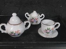 6 Pc Miniature Tea Set Unknown Maker Floral Design