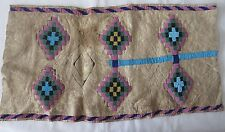 Native American Beaded Deer skin Diamond design motif unfinished project ERA?