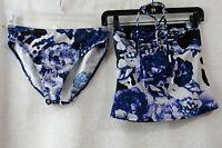 Women's Newport News Blue Tankini  Bathing Suit Swimsuit Size Small