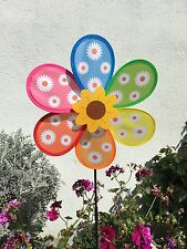 Windmill MultiColor Wind Spinner Colorful Flower Outdoor Garden Decoration New