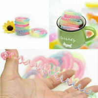 Women Telephone Line Hair Elastic Ring Bands Ties rope AU Bracelet Device A W8S3