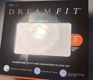 DreamFit 300TC 100% Degree 3 White Queen Sheet Set - D11