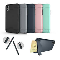 Holder Kickstand TPU Shockproof Card Pocket Case Cover For Phone X 8 7 6sPlus