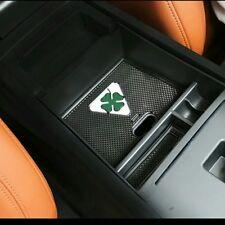 Alfa Romeo Giulia NEW Bracciolo Organizer Storage Box conLogo Quadrifoglio Verde