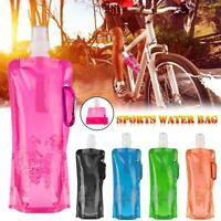 Travel Kettle Cup 500ml Outdoor Sport Portable Folding Collapsible Water Bottle
