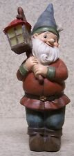 "Garden Accent Large Freestanding Gnome with a Lamp NEW 7 3/4"" tall"