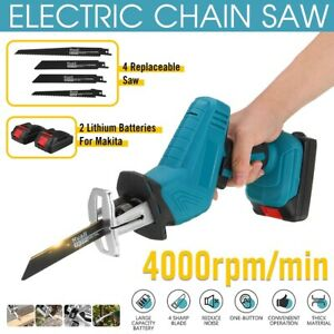 Electric Reciprocating Saw Cordless Wood Cutting Blades Metal Tool Battery 18V
