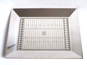 RARE WMF 18/10 Stainless Steel RUGBY / Football Field Serving Tray17 X 13 3/4