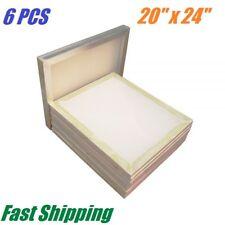 6 PCS 20 x 24 inch Aluminum Frame Silk Screen Printing Screens with 110 Mesh